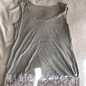 Torrid grey lace layering tank